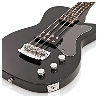 Silvertone 1444 RAZR Bass Guitar with V35B Amp, Black