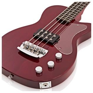 Silvertone 1444 RAZR Bass Guitar with V35B Amp, Red