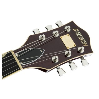 Gretsch G6609TFM Player's Edition Broadkaster Center Block, Cherry Headstock