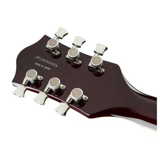 Gretsch G6609TFM Player's Edition Broadkaster Center Block, Cherry Headstock Back