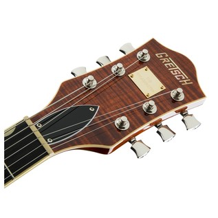 Gretsch G6609TFM Player's Edition Broadkaster Center Block, Bourbon Headstock