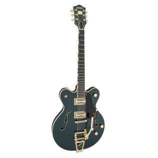 Gretsch G6609TG Player's Edition Broadkaster Center Block, Green Angle