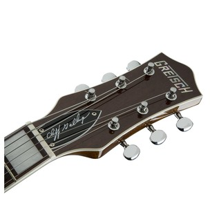 Gretsch G6128-CLFG Cliff Gallup Signature Duo Jet, Black Lacquer Headstock