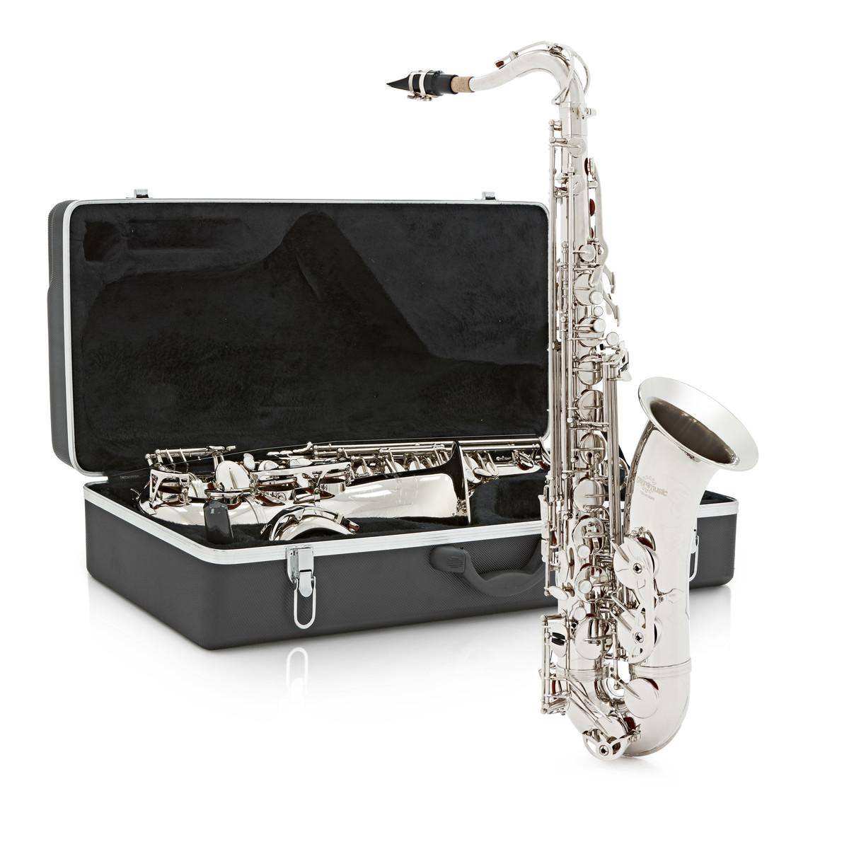 saxophone t nor par gear4music nickel bo te ouverte. Black Bedroom Furniture Sets. Home Design Ideas
