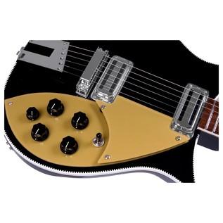 Rickenbacker 660 Electric Guitar, Jetglo body front