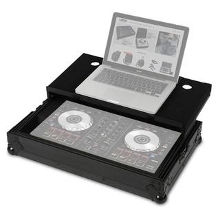 UDG FlightCase DDJ-SB2/SB & Laptop Shelf - Angled Open (Equipment Not Included)
