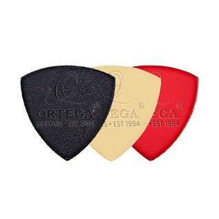 Ortega Extra Large Leather Picks, Pack Of 3