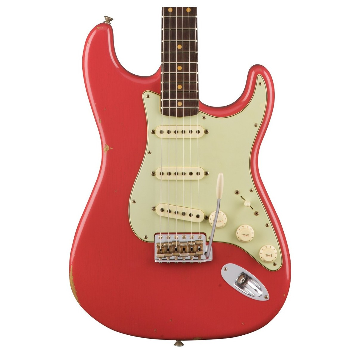 Fender Custom Shop 1960 Relic Stratocaster, im Alter von Fiesta Red ...