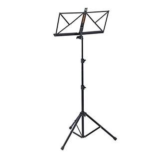 Ortega OMS-1BK Portable Music Stand, Black Back