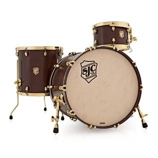 SJC Drums Tour 22'' 3 Piece Shell Pack, LTD ED Walnut with Brass HW