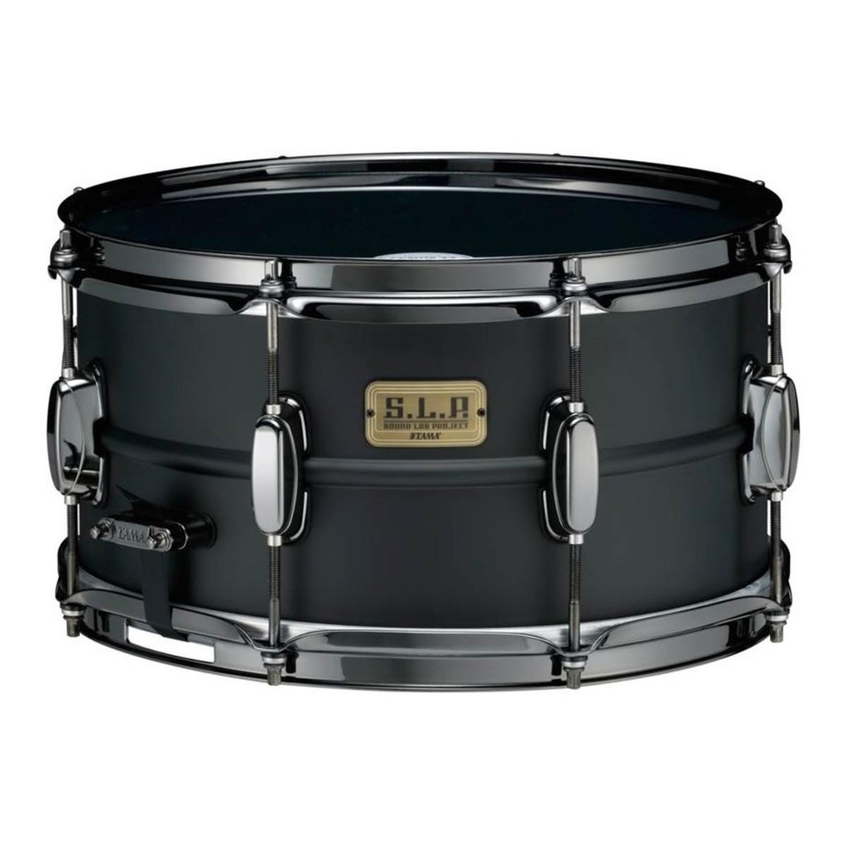 Tama SLP 13\'\' x 7\'\' Big Black Steel Snare Drum, Matte Black bei ...
