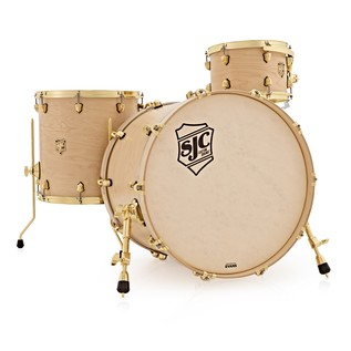 SJC Drums Tour 22'' 3 Piece Shell Pack, LTD ED Natural with Brass HW