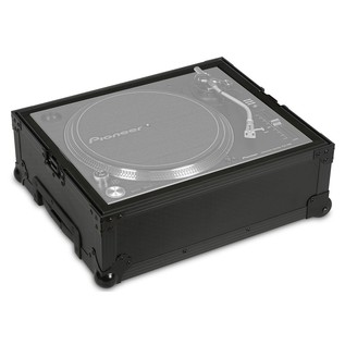 UDG FlightCase Multi Format Turntable (With Trolley & Wheels) - Open (Turntable Not Included)