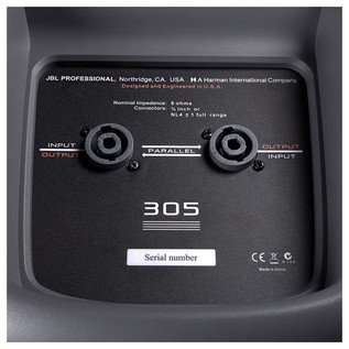 JBL EON305 rear panel