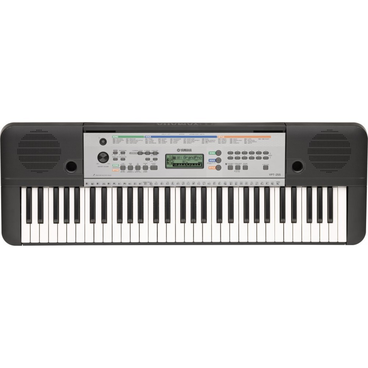 Yamaha ypt 255 61 key portable keyboard box opened at for Yamaha learning keyboard