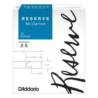 D'Addario Reserve Clarinet Reeds Strength 2.5