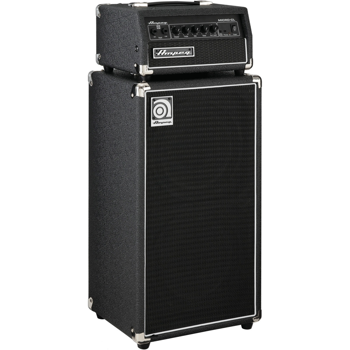 ampeg micro cl stack bass amp head and cab box opened at gear4music. Black Bedroom Furniture Sets. Home Design Ideas