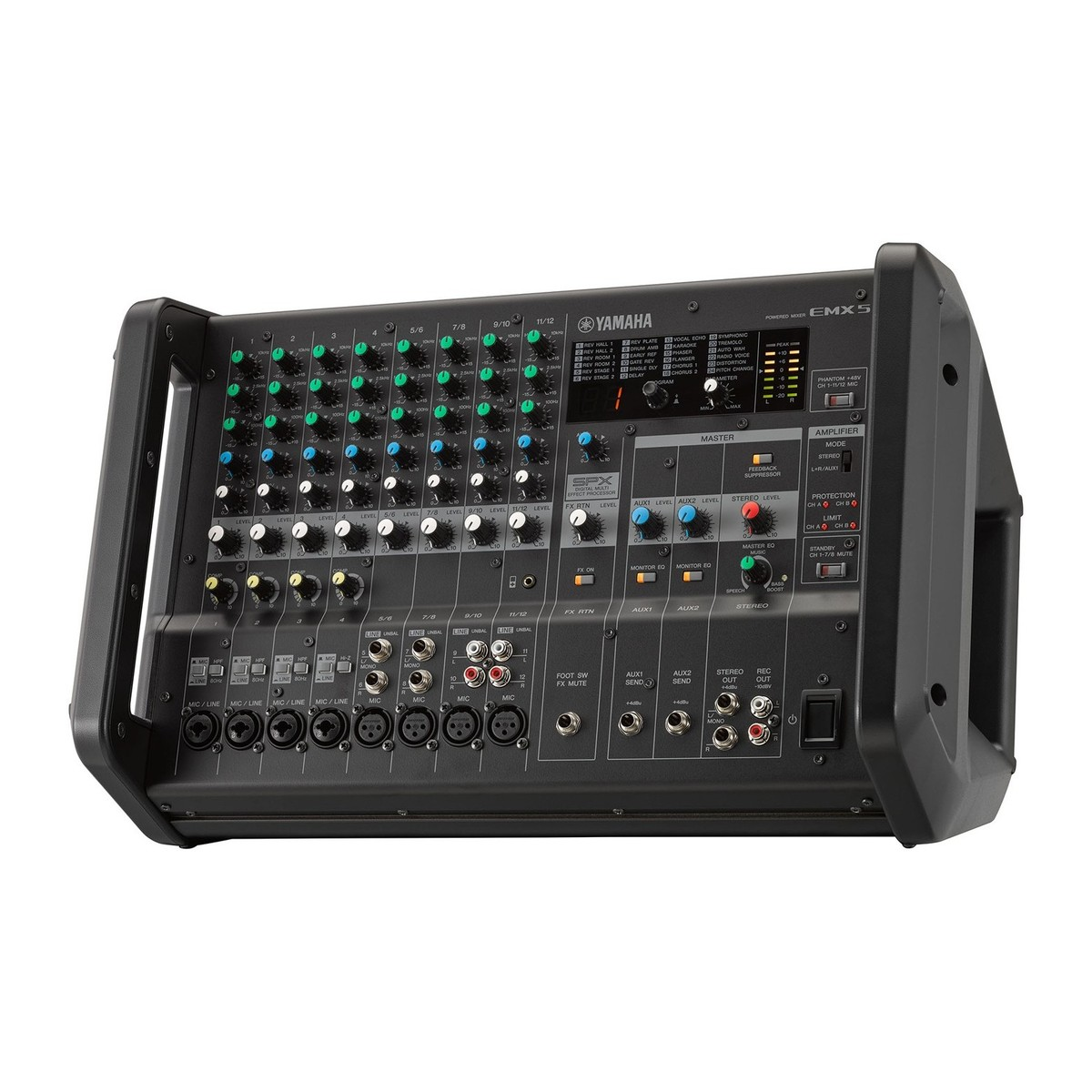 yamaha emx5 powered analog mixer at