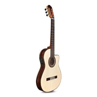 Cordoba Espana 55FCE Negra Macassar Electro Classical Guitar Angle