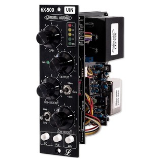 Lindell Audio 6X500VIN 500 Series Preamp - Angled