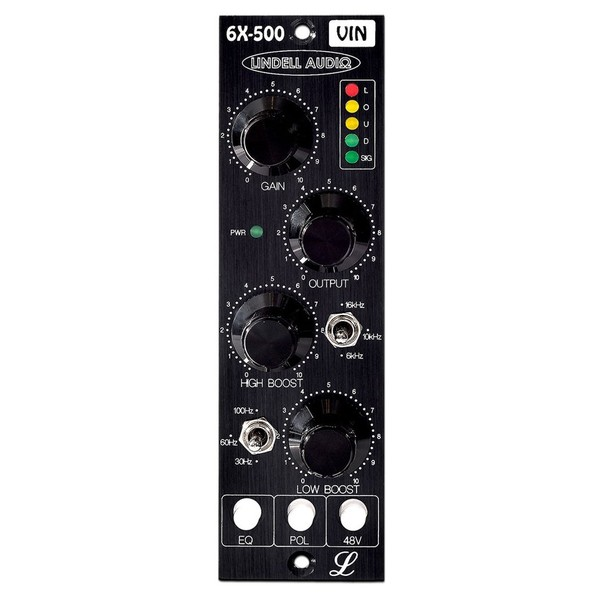 Lindell Audio 6X500VIN Microphone Preamp - Front