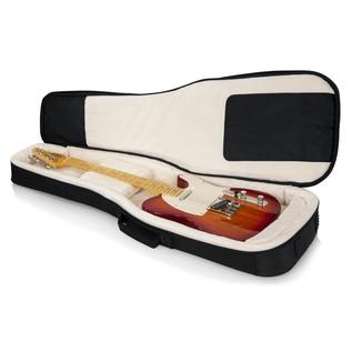 Gator ProGo Ultimate Gig Bag for Electric Guitars open