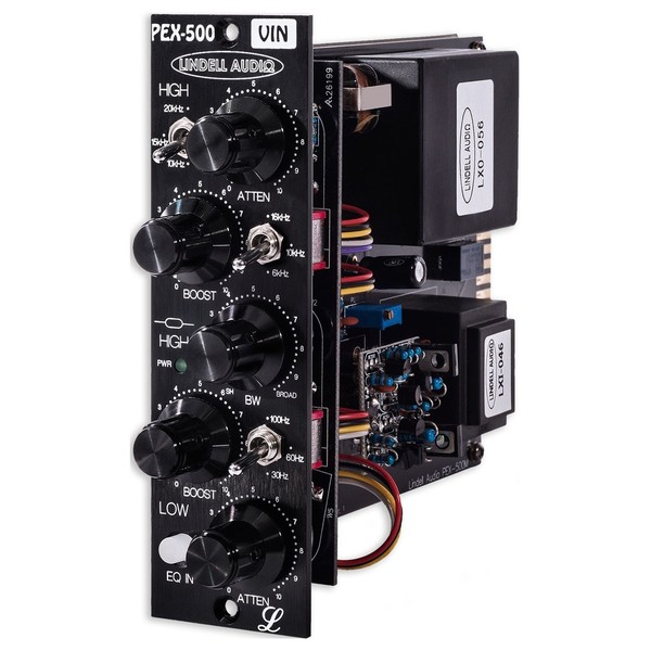 Lindell Audio PEX500VIN 500 Series EQ - Angled