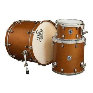 SJC Drums Tour 22'' 3 Piece Shell Pack, Golden Ochre with Chrome HW