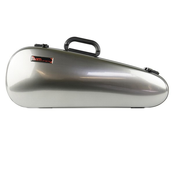 BAM 2003 Hightech Cabine Violin Case, Silver Carbon