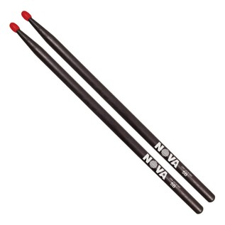 Vic Firth NOVA 2BN Nylon Tip Drumsticks, Black Finish