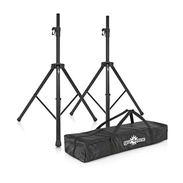 Gear4Music Speaker Stands and bag