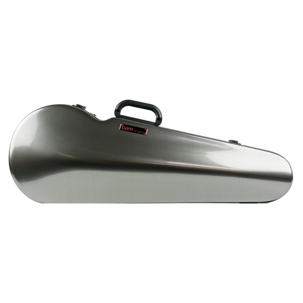 BAM 2200 Hightech Shaped Viola Case, Silver Carbon