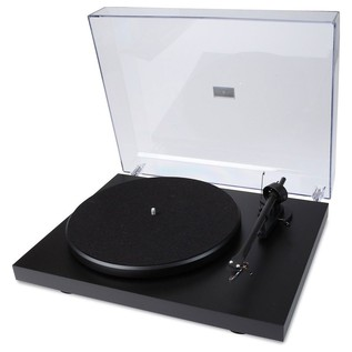 Pro-Ject Primary Belt-Drive Turntable - Angled With Lid
