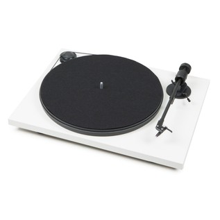 Pro-Ject Primary Turntable, White - Angled