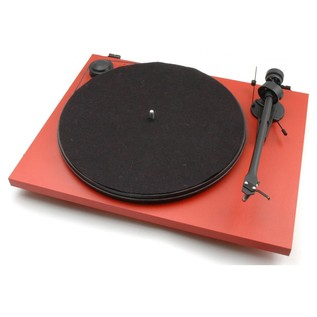 Pro-Ject Primary Turntable, Red - Angled