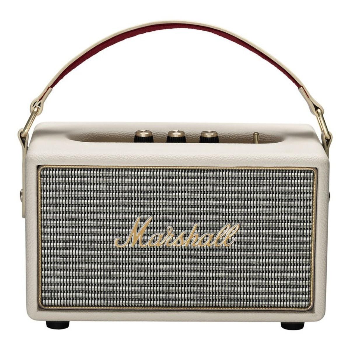 Marshall Bluetooth Speaker Portable: Marshall Kilburn Portable Bluetooth Speaker, Cream At Gear4music