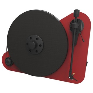 Pro-Ject VT-E Vertical Turntable, Red - Front