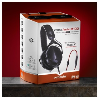 V-Moda M-100 Crossfade Headphones, Matte Black - Boxed
