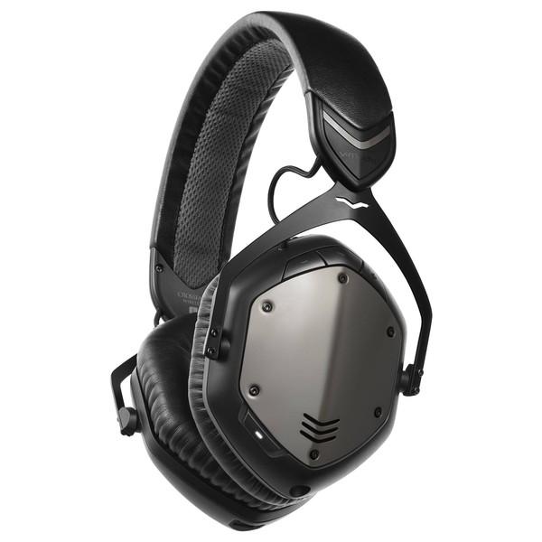 V-Moda Crossfade Wireless Bluetooth Headphones, Gunblack - Angled