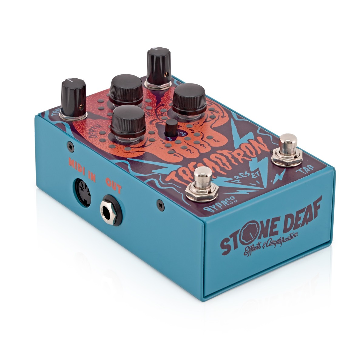stone deaf fx tremotron analog tremolo guitar pedal at gear4music. Black Bedroom Furniture Sets. Home Design Ideas