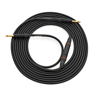 Orange Tangle-Free 20ft Instrument Twister Cable, Black Woven