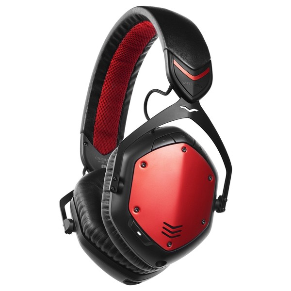 V-Moda Crossfade Wireless Bluetooth Headphones, Rouge - Angled