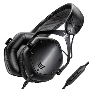V-Moda Crossfade LP2 Headphones, Matte Black - Angled