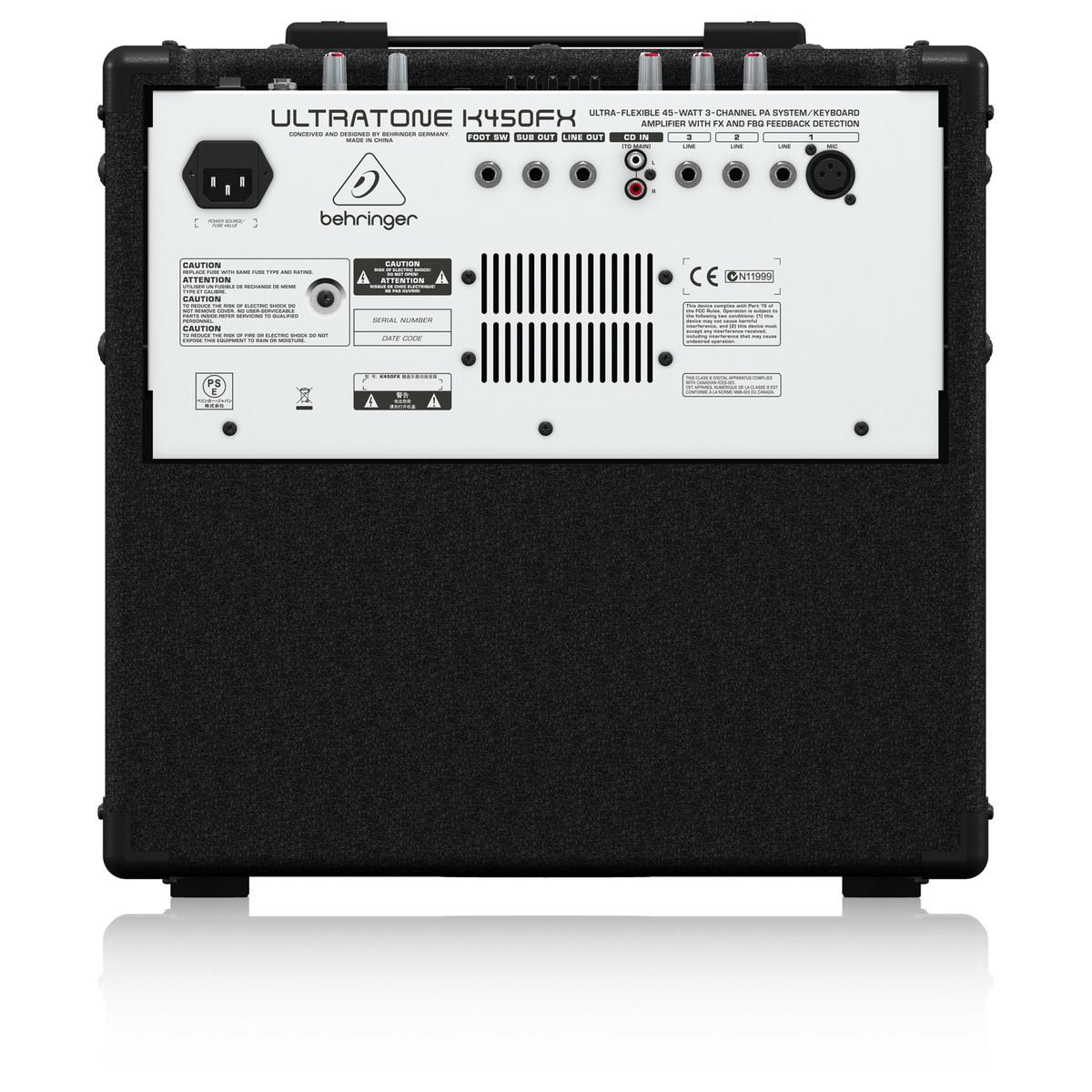 behringer k450fx ultratone keyboard amp b stock at gear4music. Black Bedroom Furniture Sets. Home Design Ideas