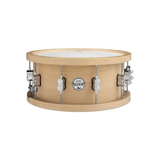 PDP Drums 14 x 5.5 Maple Snare with Wood Hoops, Gloss Natural