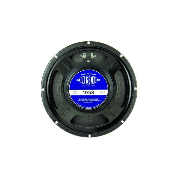 "Eminence Legend 1058, 10"", 75W, 8 Ohms rear"