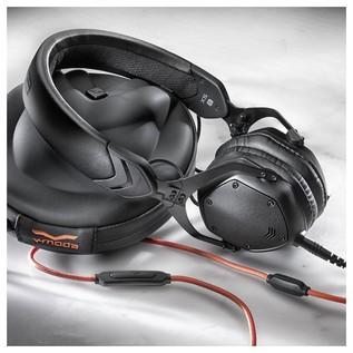 V-Moda XS On-Ear Monitoring Headphones, Matte Black - Lifestyle