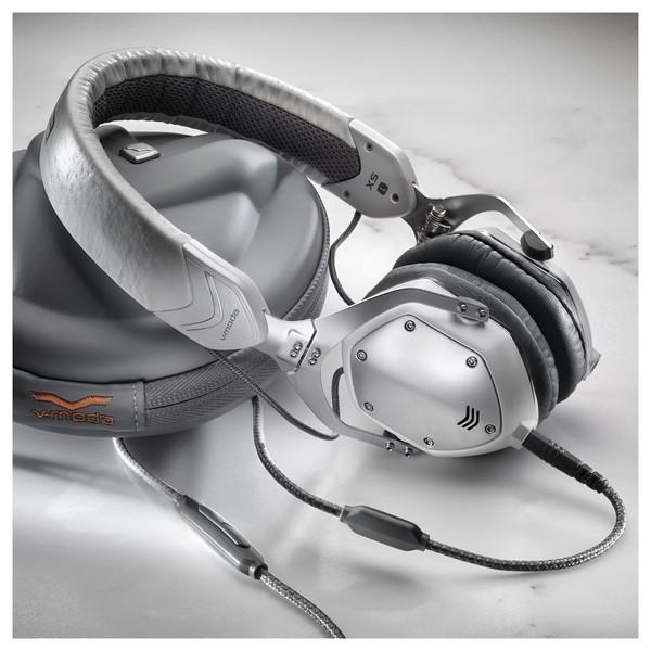 V-Moda XS On-Ear Headphones, White Silver - Lifestyle