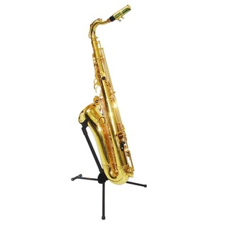 Hercules DS432B Travlite Tenor Saxophone Stand With Saxophone