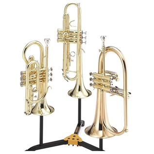 Hercules DS513BB Trumpet, Cornet and Flugel Horn Stand with Bag with Instruments